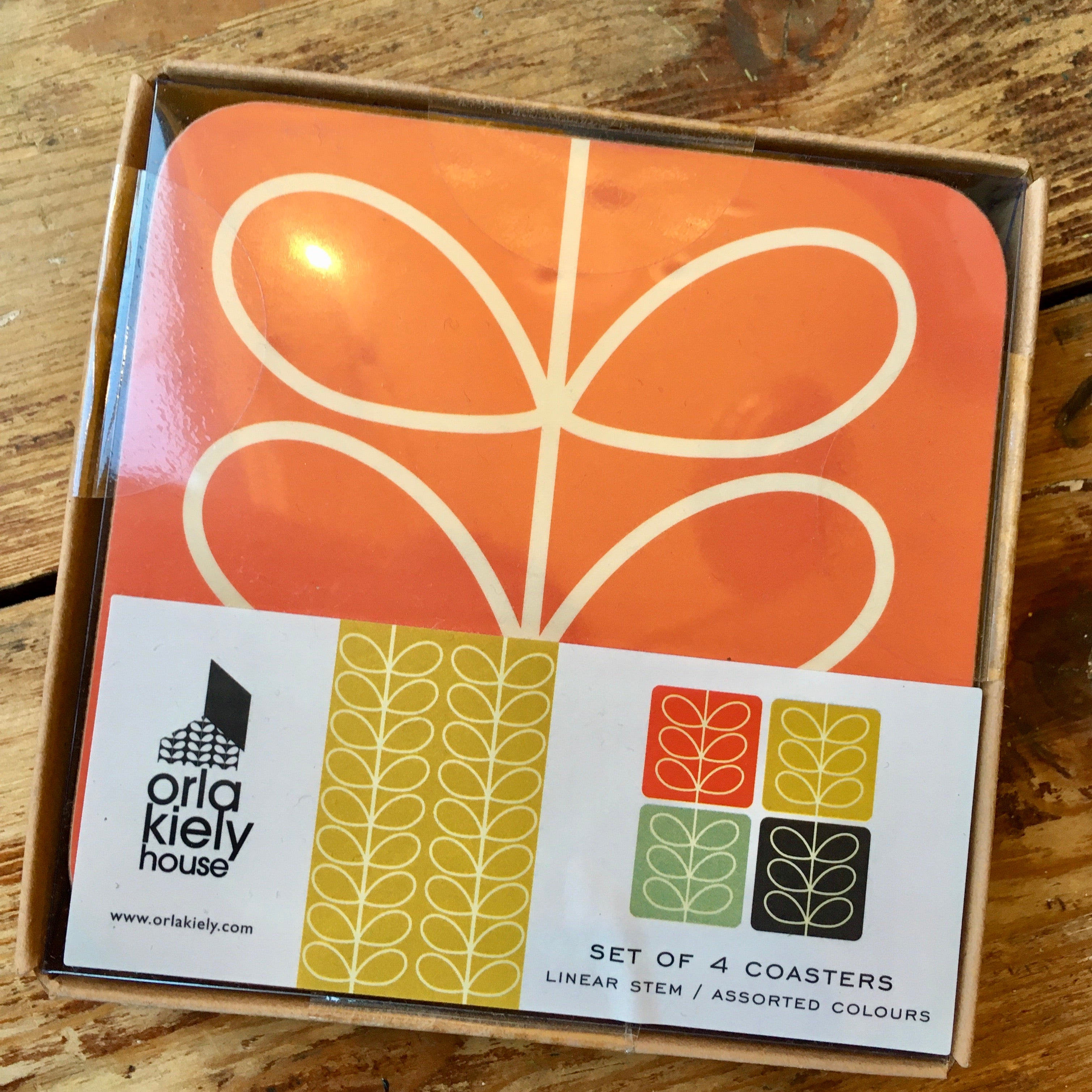 Orla Kiely Coasters Set of 4