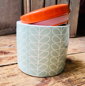Orla Kiely Duck Egg Storage Jar