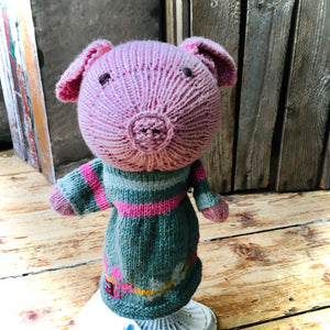 Piglet Organic Cotton Knitted Hand Puppet