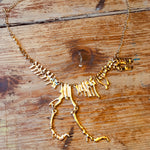 Load image into Gallery viewer, T-Rex Skeleton Necklace