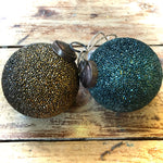 Load image into Gallery viewer, Textured Mosaic Vintage Glass Baubles