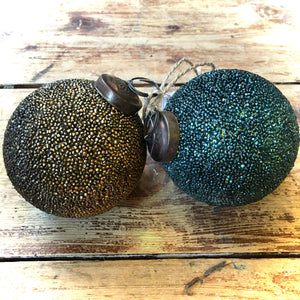 Textured Mosaic Vintage Glass Baubles