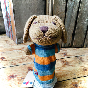 Puppy Organic Cotton Knitted Hand Puppet