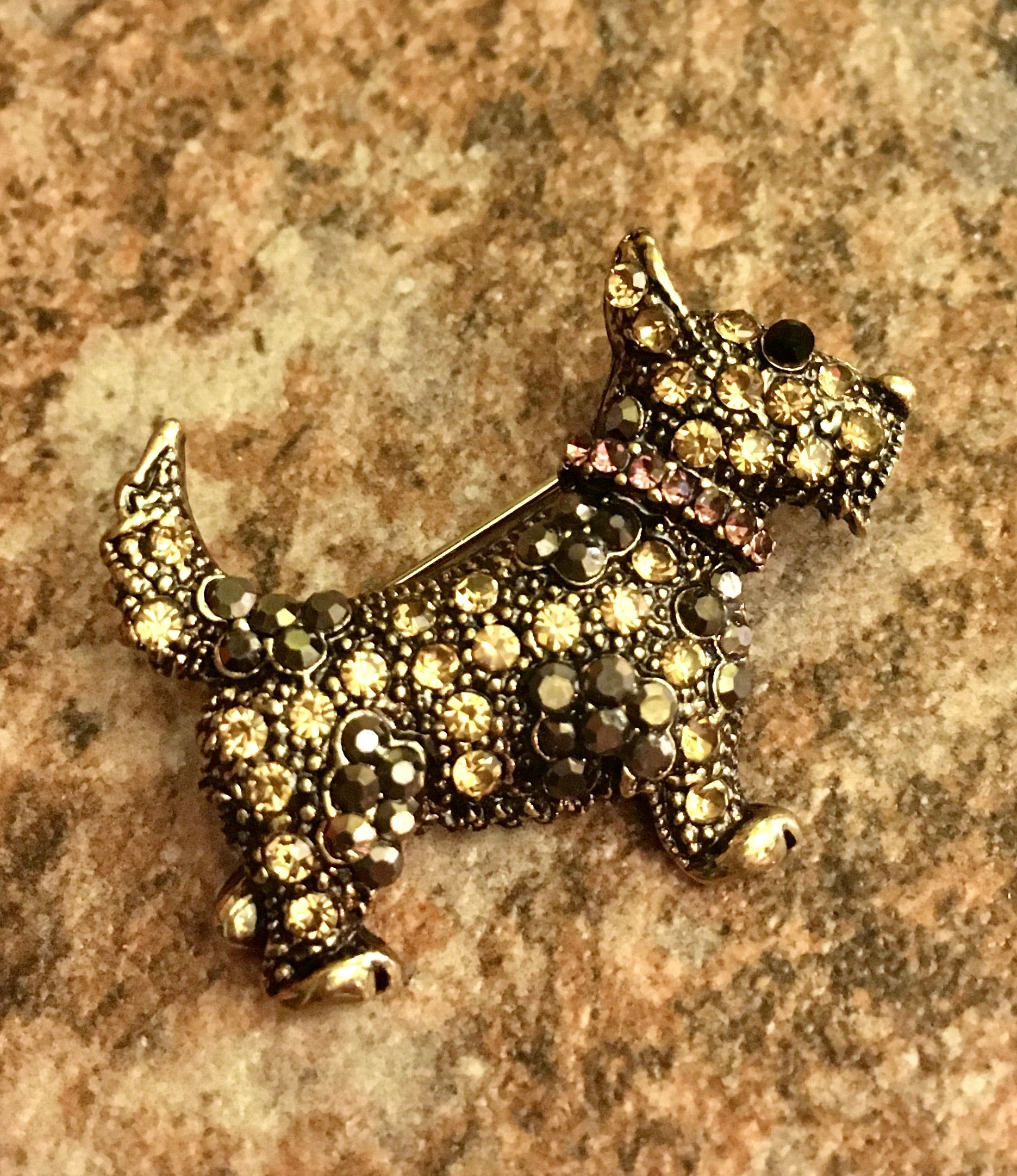 Heritage Brooch - Terrier Dog