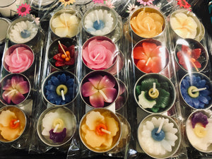 Scented Flower T Lights Set of 4