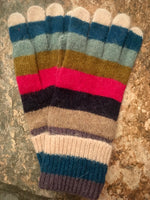 Load image into Gallery viewer, Knitted Wool Stripey Gloves