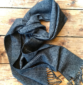 Pure Wool Scarf - Prince of Wales Check