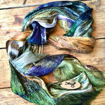 Load image into Gallery viewer, Handmade Natural Scarf with Cashmere - Reflections
