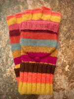 Load image into Gallery viewer, Knitted Wool Stripey Mittens