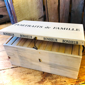 Wooden Photo Album Box - Collection Only