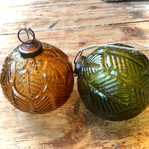 Glass Leaf Vintage Baubles