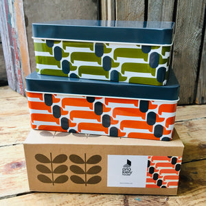 Orla Kiely Dachshund Set of 2 Tins
