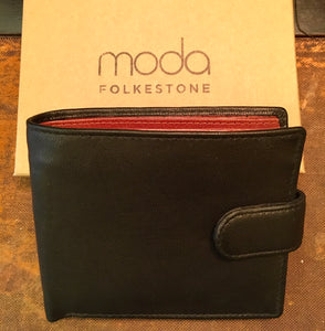 Men's Black & Tan Leather RFID Wallet Tan
