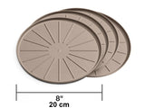 "Round Coaster Set (Tan) 10"" - WeatherTech"