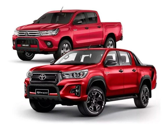 DEFENSA DEL  70mm TOYOTA HILUX 2016+ REVO NEGRO