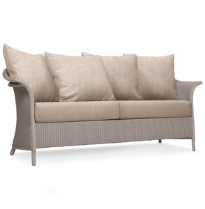 British Made Banford 3 Seat Lloyd Loom Sofa With Scatter