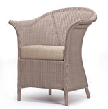 Fairbank Wide Lloyd Loom Armchair With Fabric Cushion