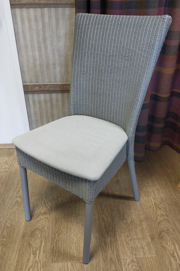 Refurbished Bantam Dining Chair with fabric seat (available: 4)