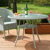 Bistro Outdoor Lloyd Loom Round Table Garden