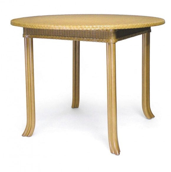 Lloyd loom Stamford  Round Table with glass top