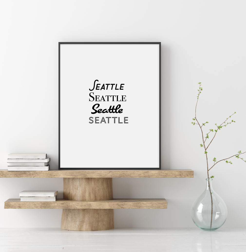 Custom City Name Typography Print