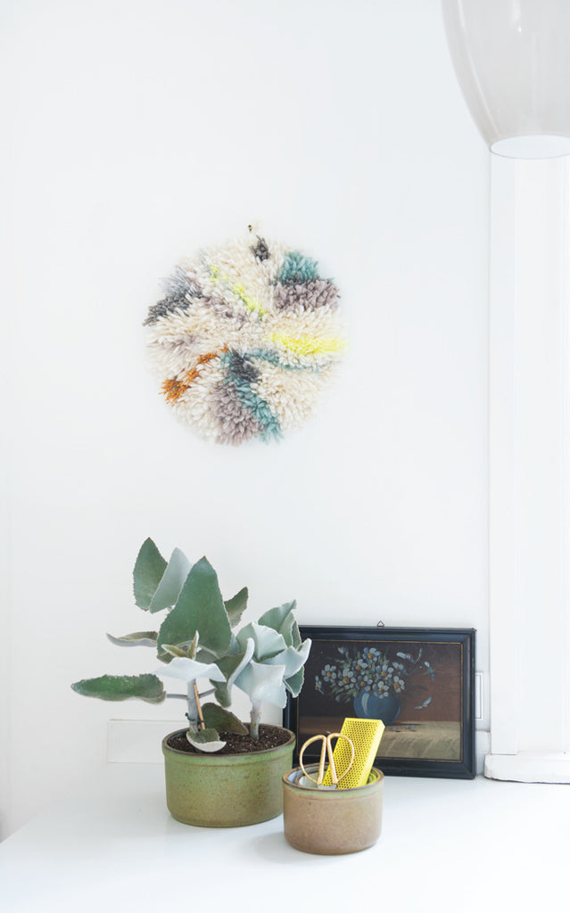 Circle of Yarn Wall Piece by Irene Hoofs
