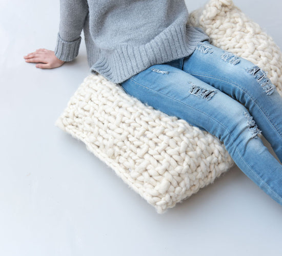 Extreme Knitted Pouf by TJOCKT