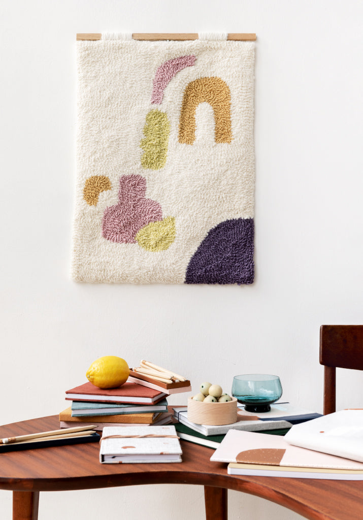 Abstract Wall Hanging by Lucy Rowan