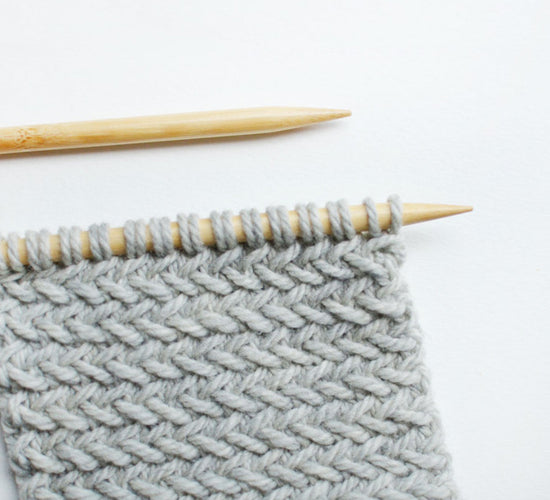 Knitting: Herringbone Stitch