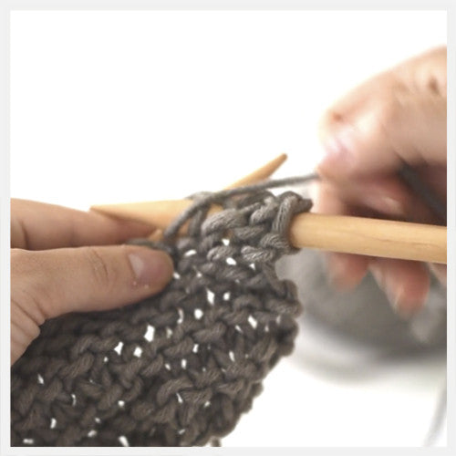 Knitting: Purl Stitch