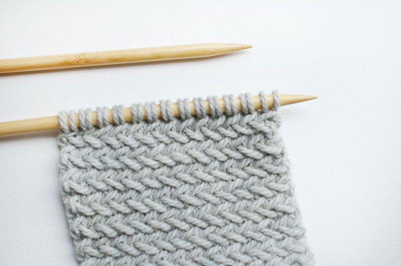 Knitting Herringbone Stitch Koel Magazine