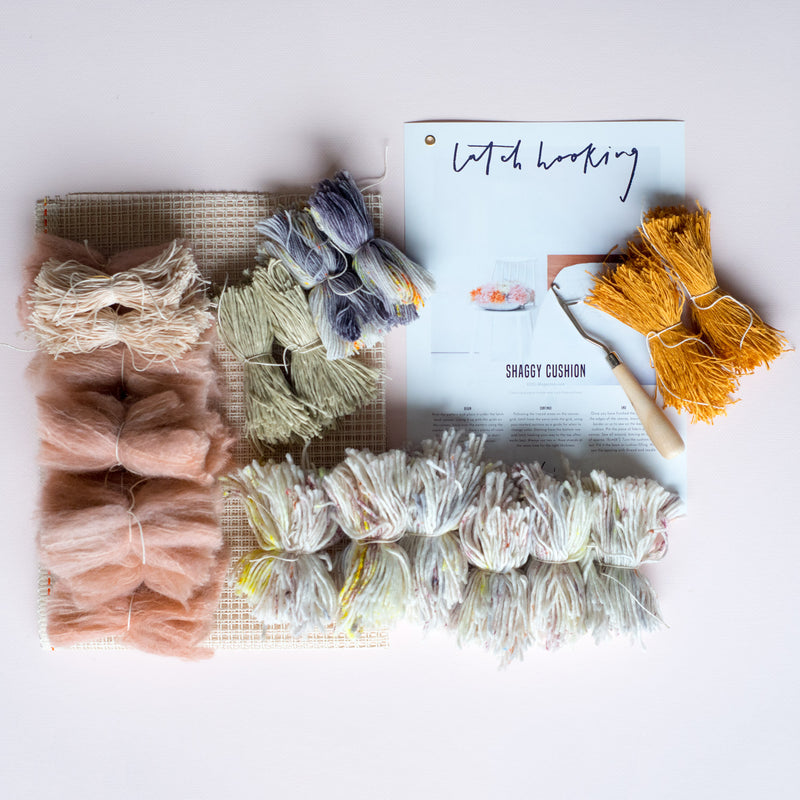 Latch Hook Kit: Shaggy Cushion