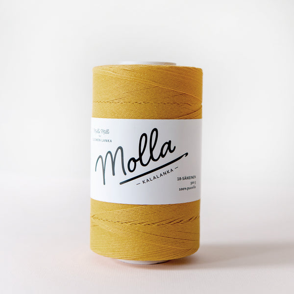 Molla Mills cotton twine in Mustard