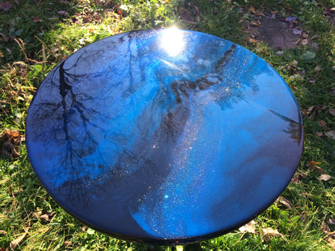 resin furniture table top upcycle