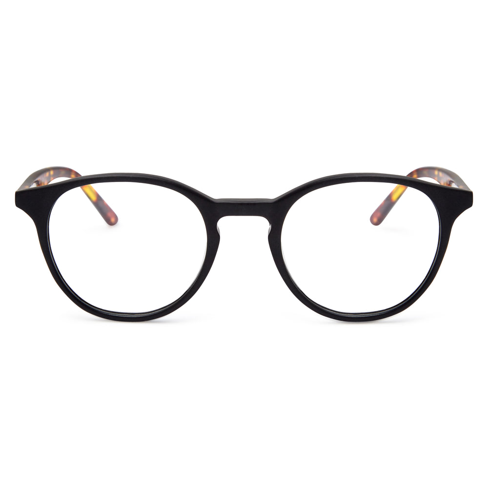 Matte Black & Yellow Tortoise / Protective & Anti-Glare Coating - Glasses