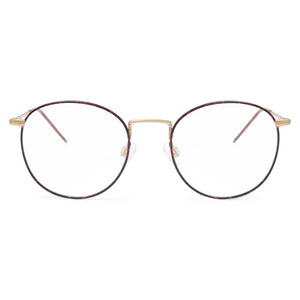 Red Tortoise & Gold / Protective & Anti-Glare Coating - Glasses