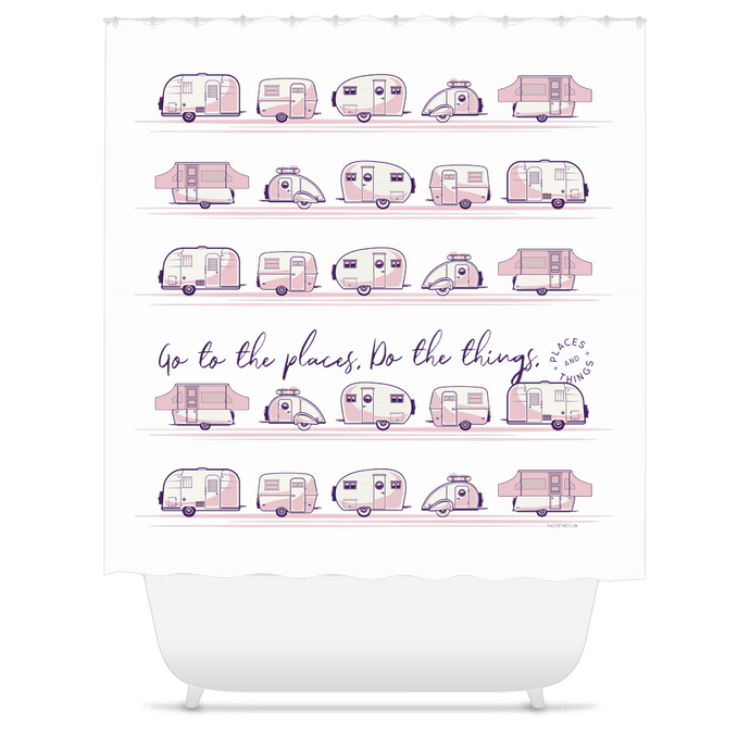 Shower Curtains — Places + Things — Pink
