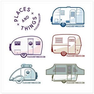 Stickers — Places + Things