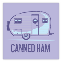 Load image into Gallery viewer, Metal Magnet, 2 inch by 2 inch, vintage canned ham trailer.