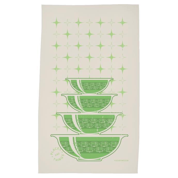 Tea Towel — Stacked Bowls — Pop-Up