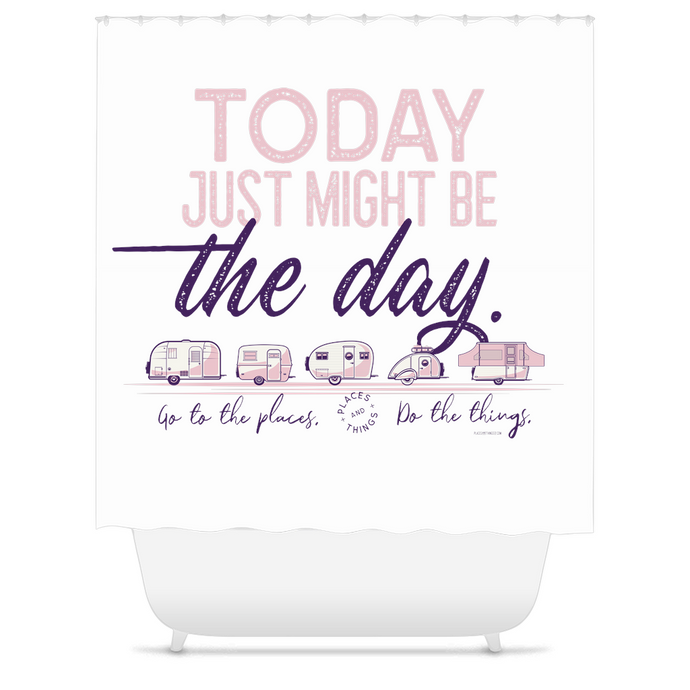 Shower Curtain — Today Might be The Day