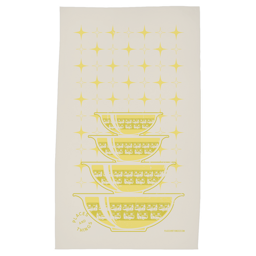Tea Towel — Stacked Bowls — Egg-On-Wheels