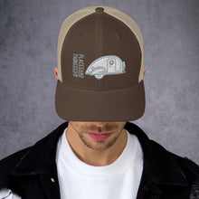 Load image into Gallery viewer, Trucker Cap — Teardrop, grey