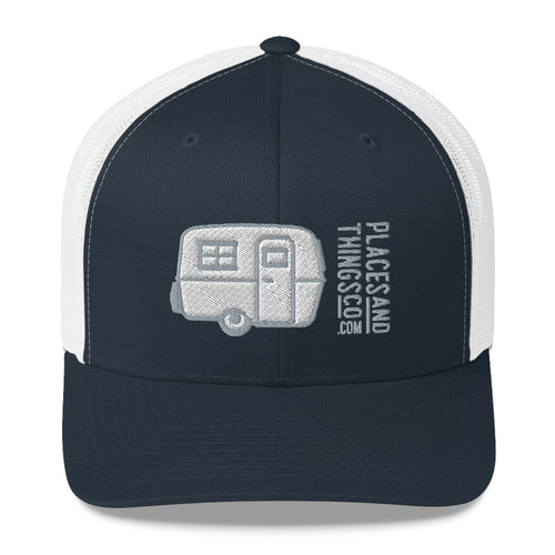 Trucker Cap — Egg-On-Wheels, grey