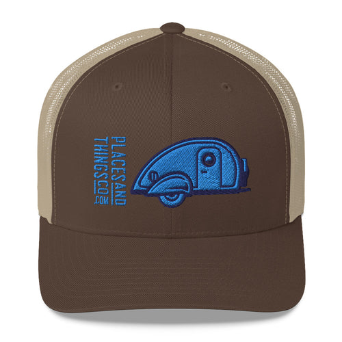 Trucker Cap — Teardrop, blue