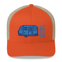 Load image into Gallery viewer, Trucker Cap — Road Toaster, blue