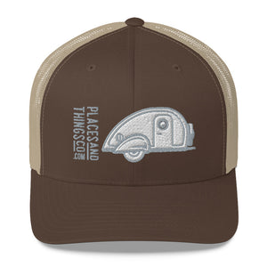 Trucker Cap — Teardrop, grey