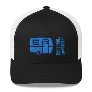 Trucker Cap — Egg-On-Wheels, blue