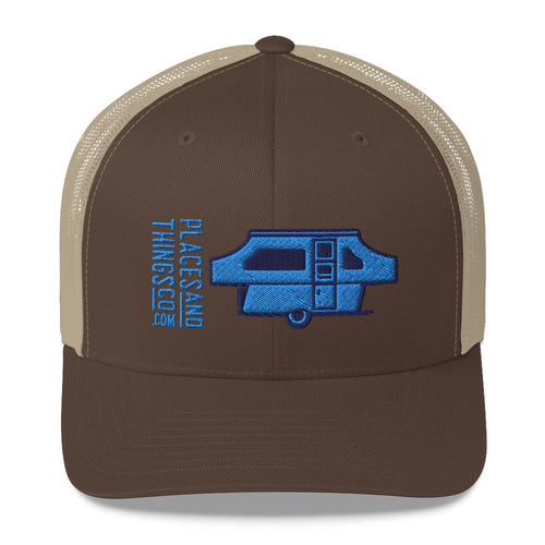 Trucker Cap — Pop-Up, blue