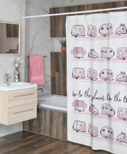 Load image into Gallery viewer, Shower Curtains — Places + Things — Pink